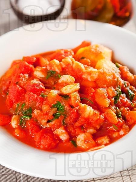 Картофена яхния със скариди - снимка на рецептата